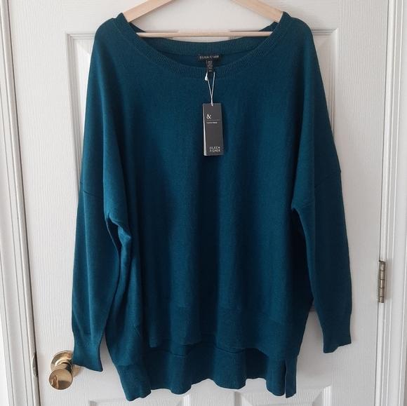 NWT Eileen Fisher Merino Wool Sweater Size Large